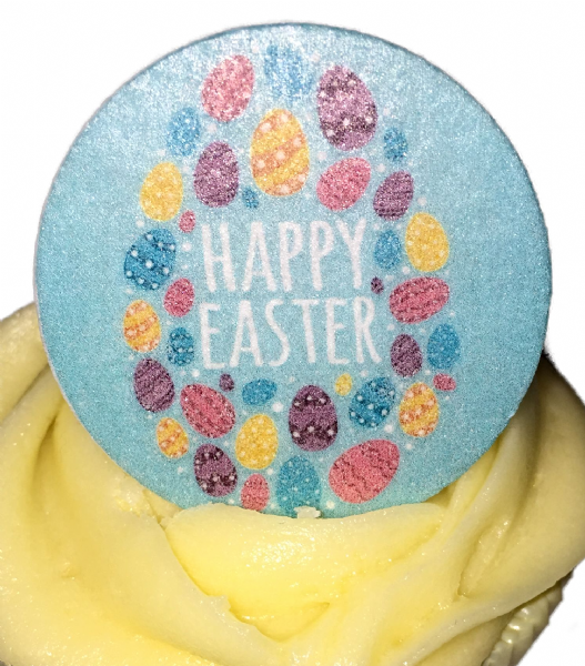 Edible cake topper - Happy Easter